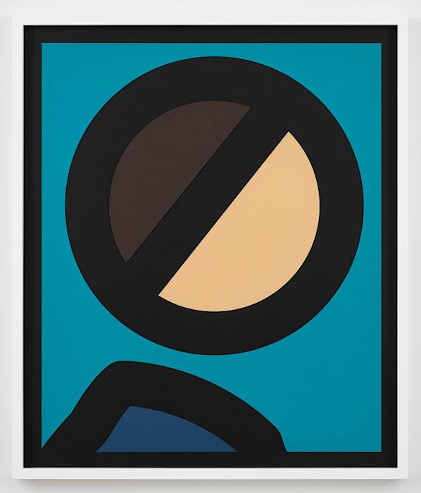 Paper Head 7. by Julian Opie