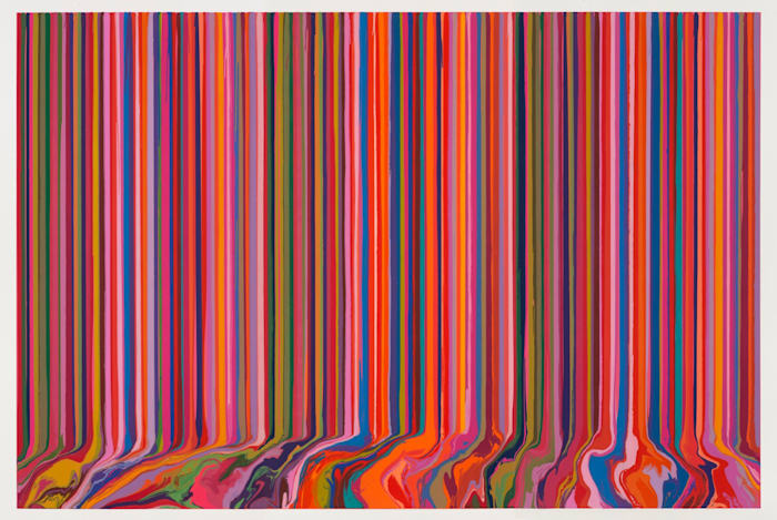 Poured Triptych Etching: Primavesi (After Klimt) by Ian Davenport