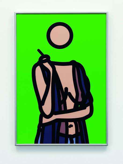 Ruth with Cigarette. 5 by Julian Opie