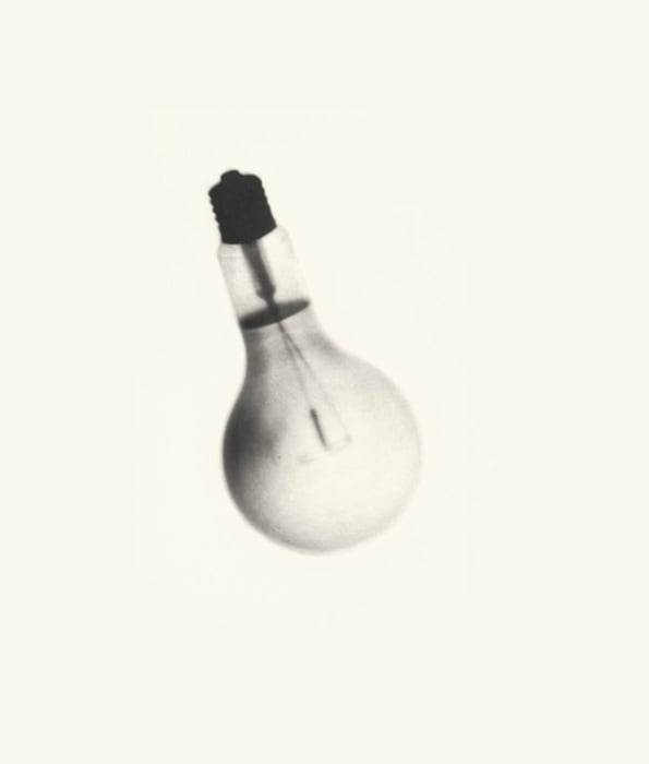 Spent Bulb Exposed by a Live One by Cornelia Parker