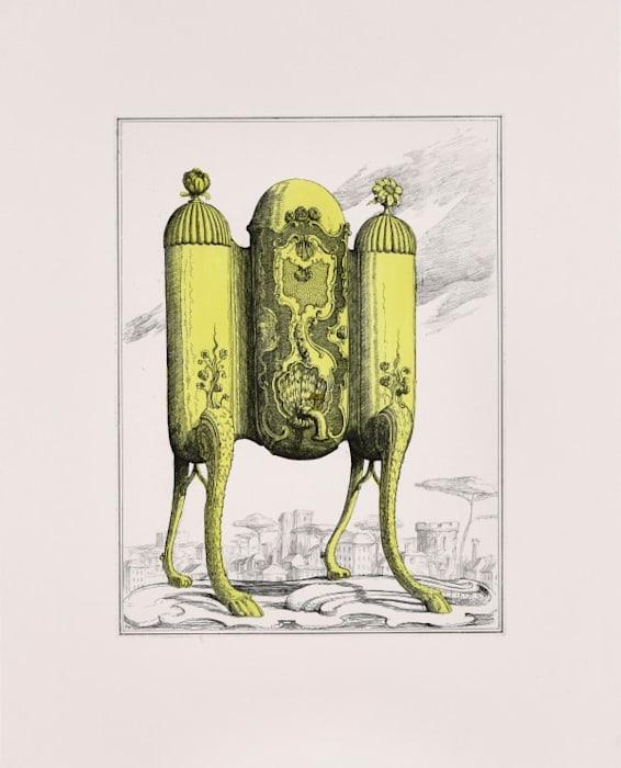 Tea Urn on Legs II by Pablo Bronstein