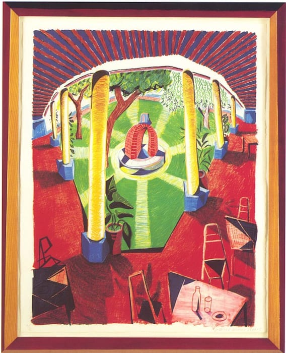 View of Hotel Well III by David Hockney