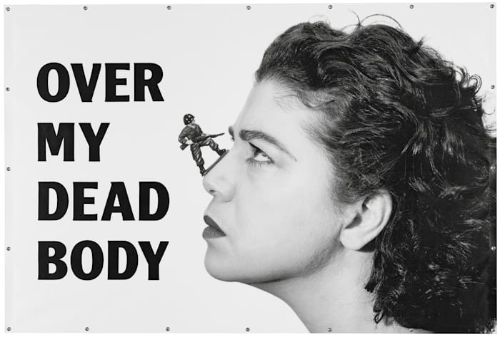 Over My Dead Body by Mona Hatoum