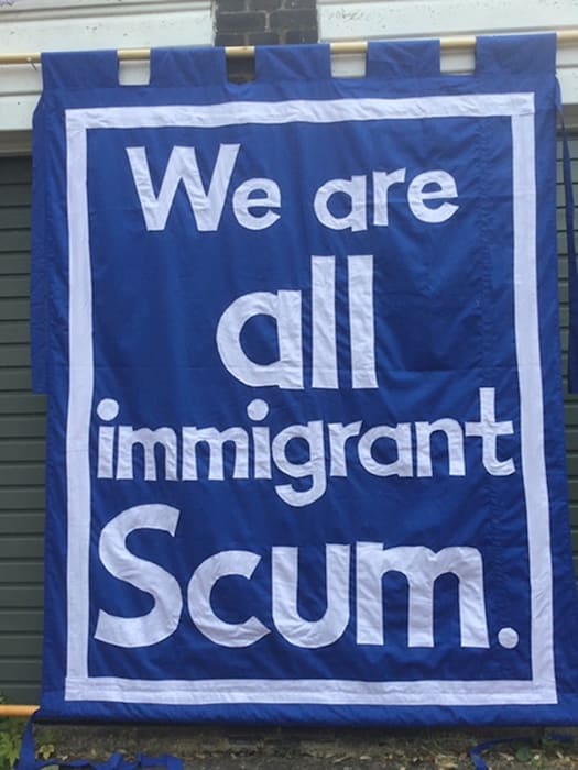 We're all immigrant scum by Jeremy Deller