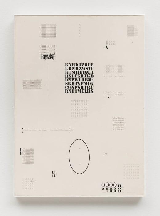 Datiloscritos (Typed Writings) by Mira Schendel
