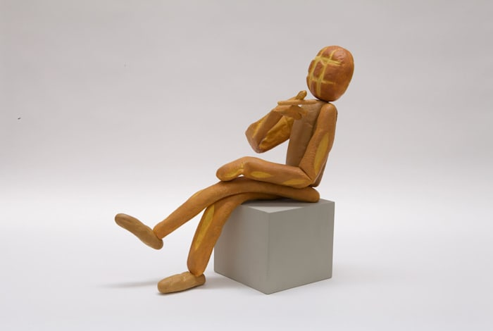 Bread Figure (Seated) by Matt Johnson