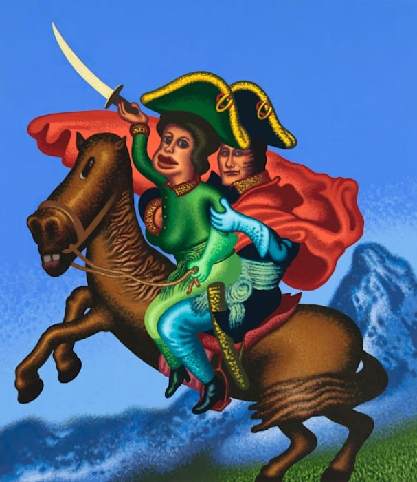 Two Napoleons Crossing the Alps by Peter Saul