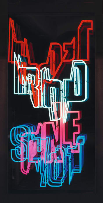 (02) Neon Text 1 by Ferdinand Kriwet