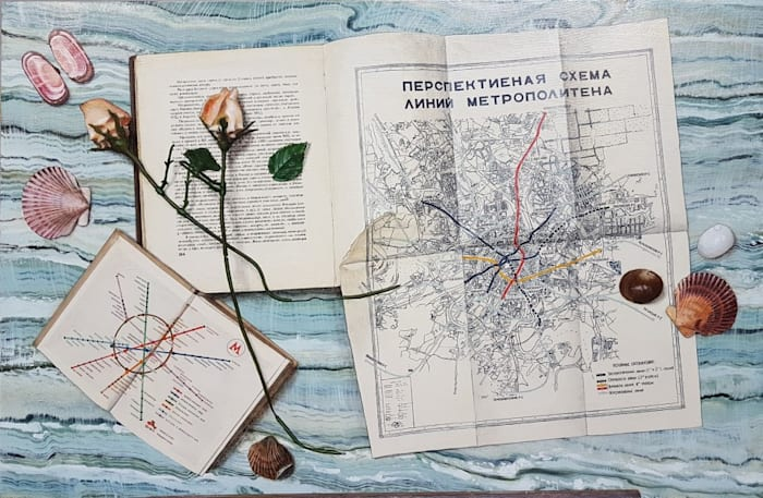 Quodlibet LX (Maps and shells) by Lucy McKenzie