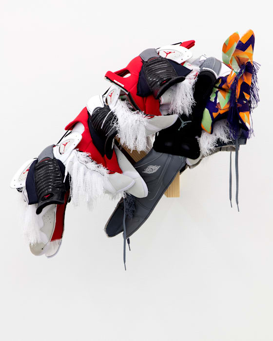 Horse Mask (Mike) by Brian Jungen