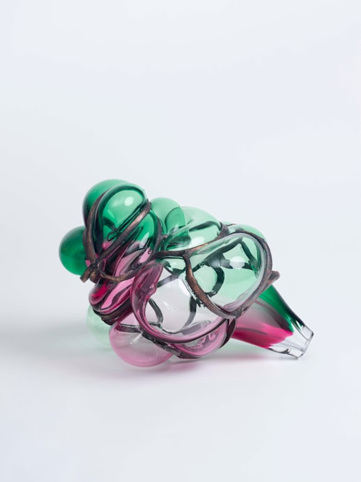 Untitled (Gold Ruby / Emerald Green) by Jean-Luc Moulène