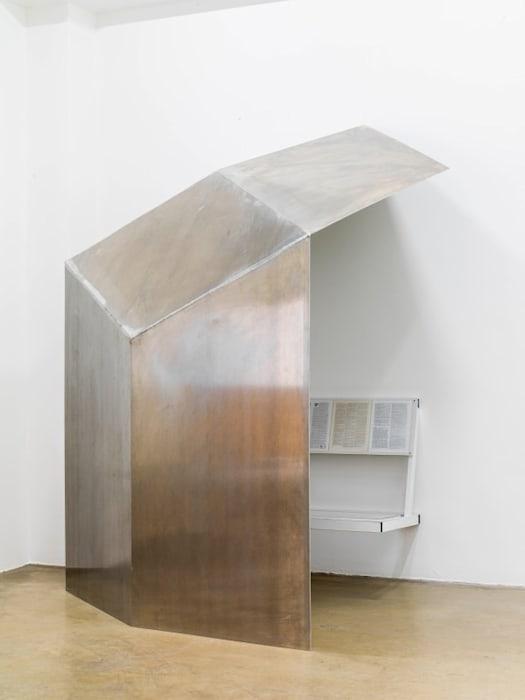 Wall shelter by Oscar Tuazon