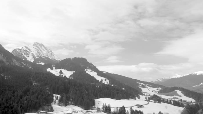 Cloud Sediment (Gstaad) by Sean Snyder