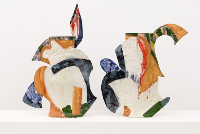 Athena Diptych Vase by Betty Woodman