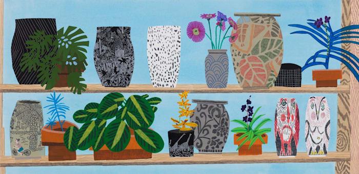 Still Life with Kusaka, Takamori and Frimkess by Jonas Wood
