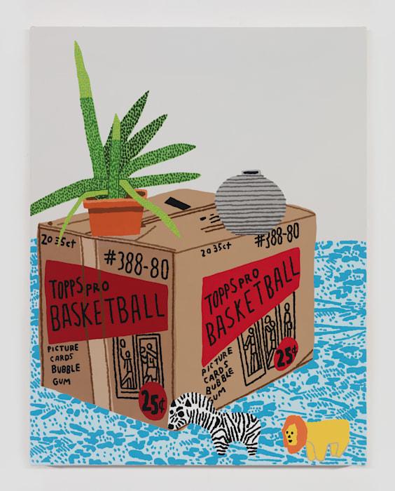 Aloe With Topps Box by Jonas Wood