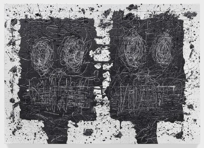Untitled Anxious Men by Rashid Johnson