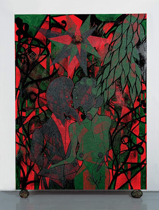 Afro Green by Chris Ofili