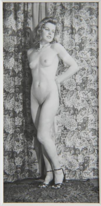 Untitled (Standing nude with heels) by Eugene Von Bruenchenhein