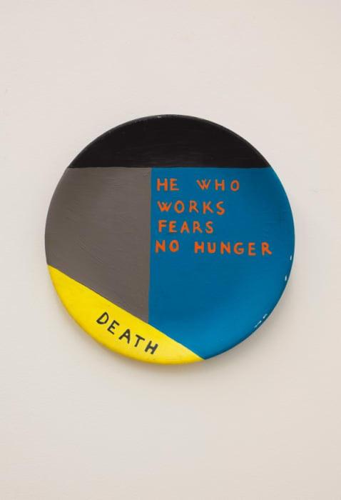 He who works fears no hunger / Death by Mladen Stilinović