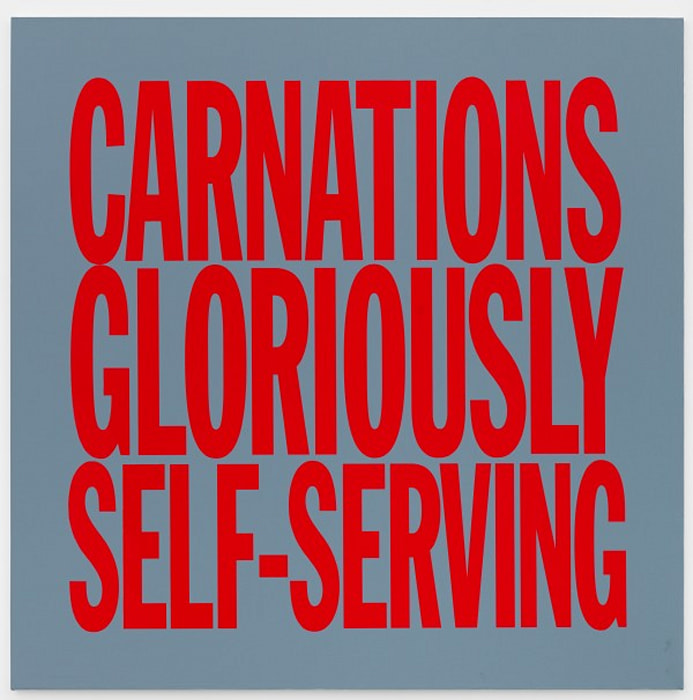 CARNATIONS GLORIOUSLY SELF SERVING by John Giorno