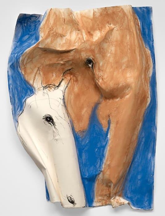 Elefant amb Cavall blanc by Miquel Barceló