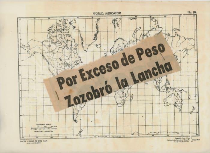 Mapa por exceso de peso zozobró la lancha by Claudio Perna