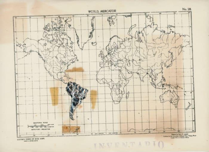 Mapa Sudamérica Intervenido by Claudio Perna