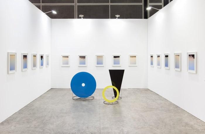 Exhibition view at Art Basel Hong Kong 2015 by Mandla Reuter and Alice Ronchi