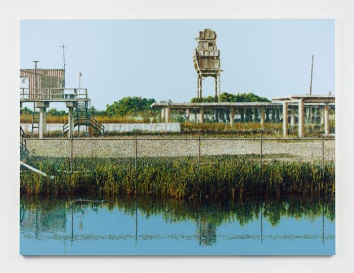 Chevron Plant Ruin, Bayou La Loutre, near Yscloskey, Louisiana by Wayne Gonzales