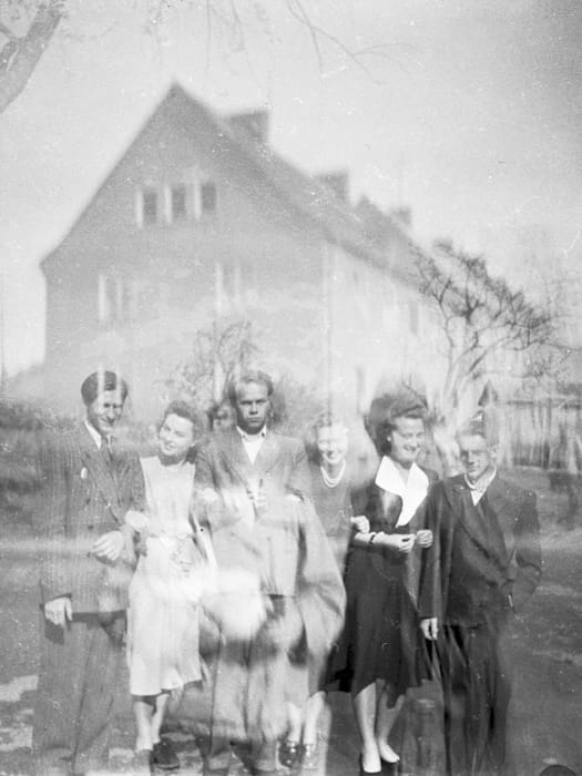 I am in it, somewhere… in this picture… Kassel/Mattenberg D.P. Camp, 1948 by Jonas Mekas