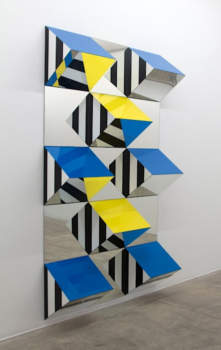 Prisms and Mirrors, high reliefs,  situated works 2016/2017 for São Paulo by Daniel Buren