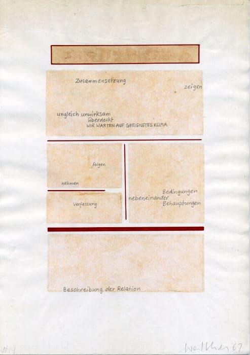 Werkzeichnungen by Franz Erhard Walther