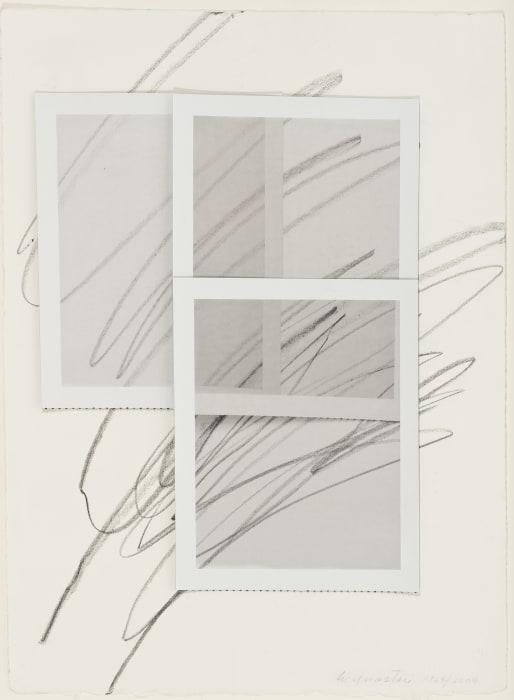 Three Polaroids Blind Drawing by William Anastasi
