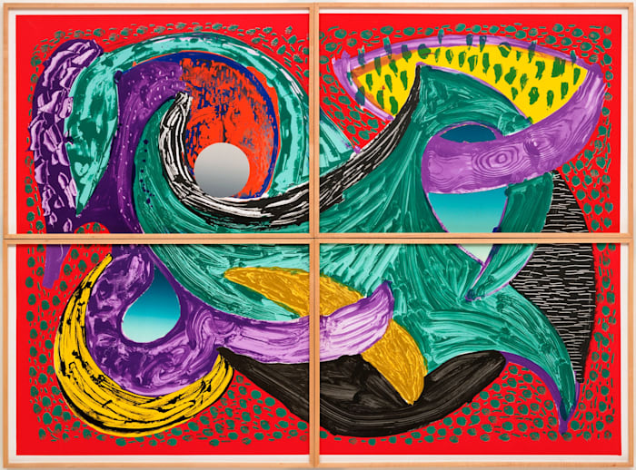 Some More New Prints, Going Round by David Hockney