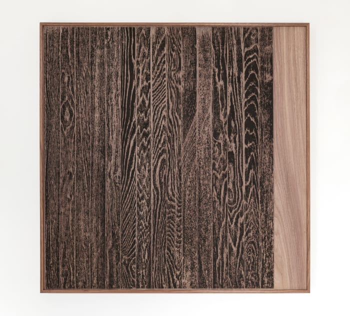 Wooden Floor on Wood (Vertical) by Analia Saban