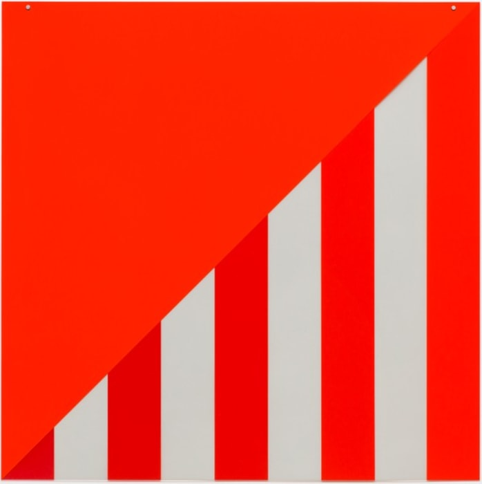 On Transparency: Situated Mylars VI by Daniel Buren
