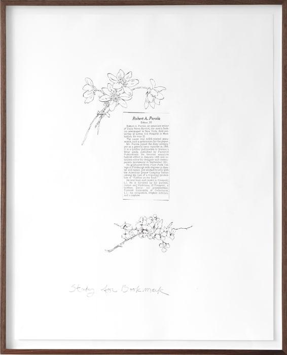 Robert Parola (Study for Bookmark) by Allen Ruppersberg