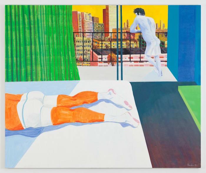 Sunburn (spitting off the balcony) by Richard Hawkins