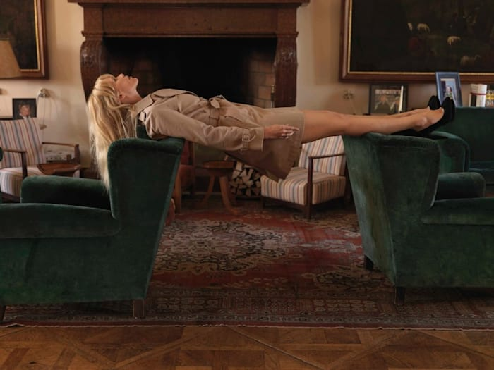 Untitled (from the series Claudia Schiffer) by Erwin Wurm