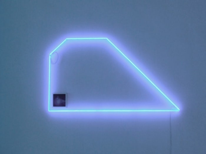 """Broken Glass in Pool XI"" by Jonathan Monk"