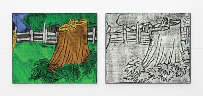 """""""Comic Details (trunk)"""" by Matt Mullican"""