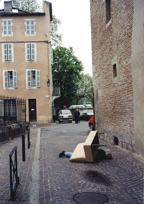 """Outdoor sculpture - Cahors series"" by Erwin Wurm"