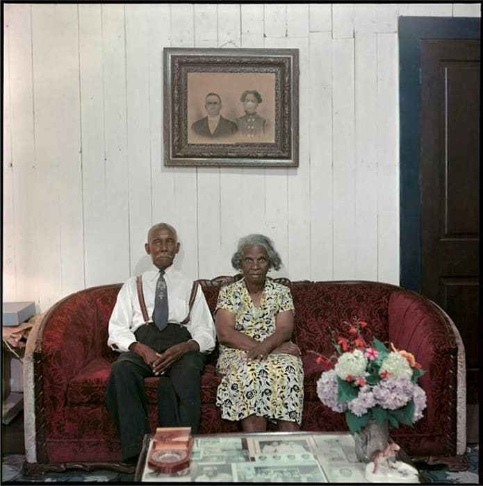 Mr. and Mrs. Albert Thornton, Mobile, Alabama by Gordon Parks