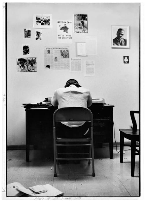 Stokely Carmichael in SNCC Office by Gordon Parks
