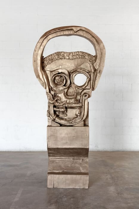 Big Head (Dancing Devil) (edition of 3 + 2 AP) by Thomas Houseago