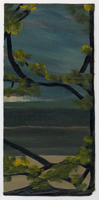 Seascape through Tangled Branches by Frank Walter