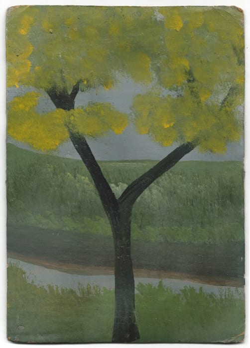 Tree with Bright Green Leaves by Frank Walter