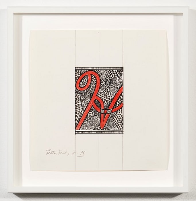"""Letter study for """"H"""" by Judy Chicago"""
