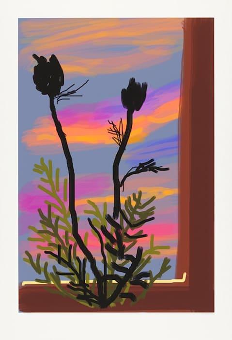 Early Morning by David Hockney